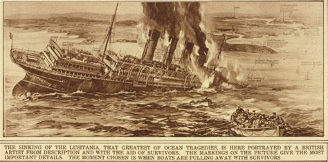 sinking of the lusitania the sinking of the lusitania on may 7 1915 america and