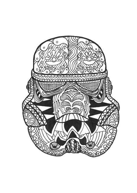 coloring books for adults wars zen stormtrooper by allan zen and anti stress coloring