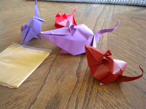 Origami Mice - do origami mice like cheese m s origami favorites