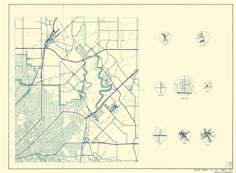 colorado county texas map county maps dallas co texas cities map 3 of 4 by state hwy dept 1936