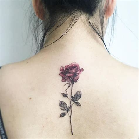rose with stem tattoo 20 awesome tattoos that you will