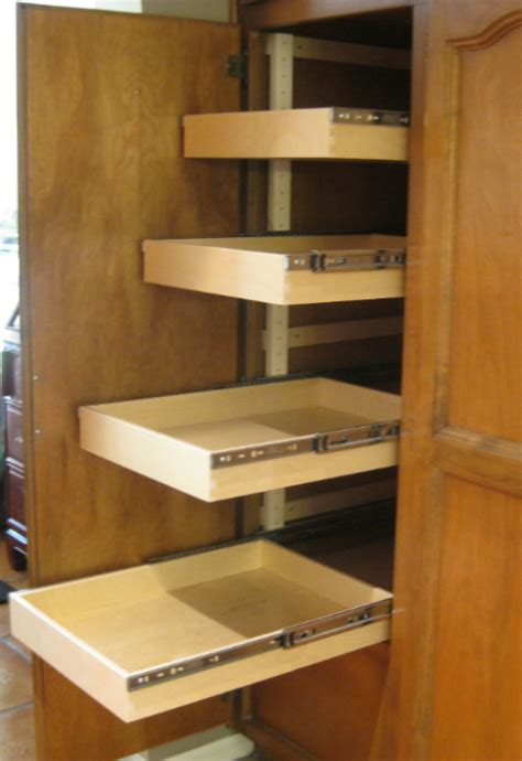 Sliding Shelves Pantry sliding shelves steve s shelves