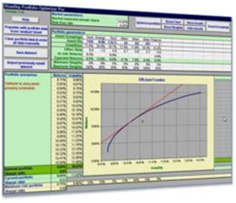 Portfolio Optimizer For Excel Hoadley Portfolio Optimization Excel Template
