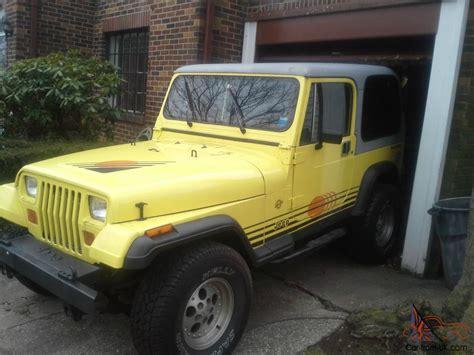 jeep islander yj 1989 jeep wrangler islander sport utility 2 door 4 2l