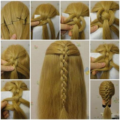 different types of hairstyles diy diy braided chain pigtail hairstyle