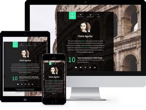 bootstrap templates for personal website personal free html5 bootstrap website template