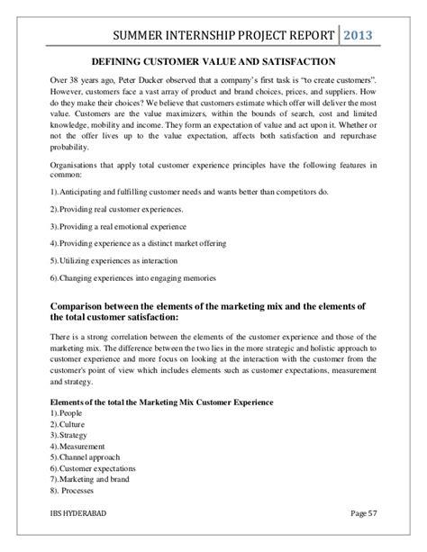 Mba Intern Projects Hyderabad mba summer internship project report