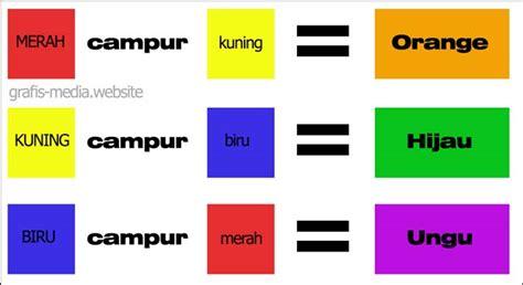 cara membuat warna coklat dengan warna dasar cara mencur warna contoh curan warna grafis media