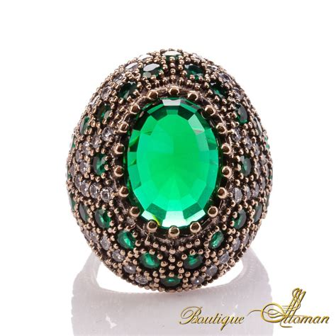 Nurbanu Sultana Ring Emerald Boutique Ottoman Jewelry Store Ottoman Rings For