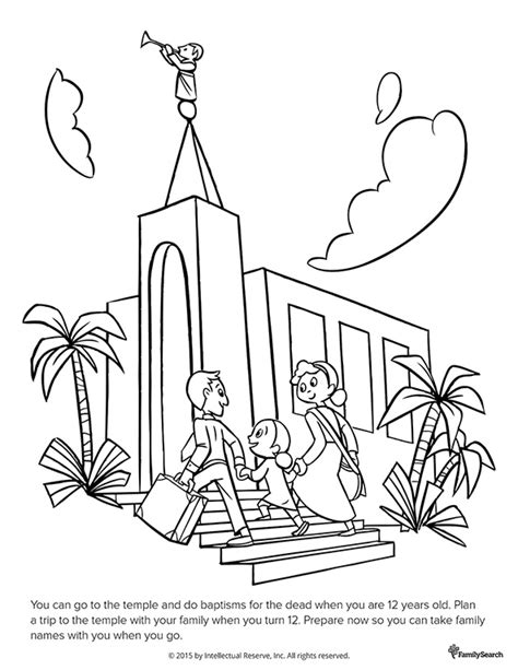 lds coloring pages families can be together forever 12 years old