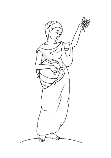 goddess of color goddess hestia coloring pages hellokids