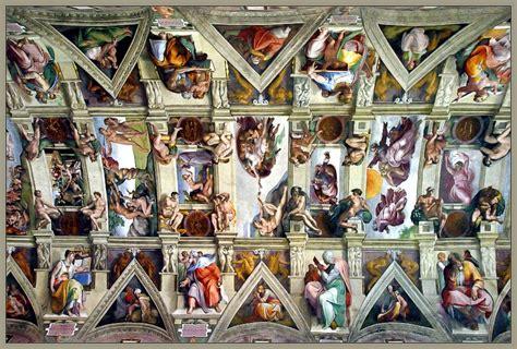 decke der sixtinischen kapelle michelangelos sixtinische kapelle foto bild europe