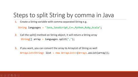 tutorial java array how to split string by comma in java exle tutorial