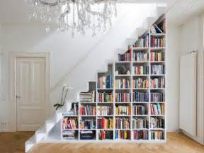 shelving for books 40 stairs storage space and shelf ideas to maximize