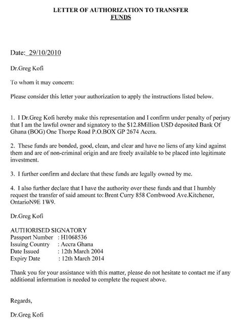 authorization letter for bank doc authorization letter to claim writing an authorization