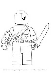 learn draw lego deathstroke lego step step drawing tutorials