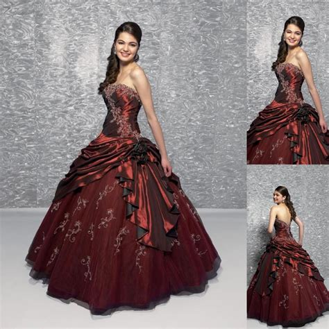 Dress Owl Hoodie Marun Ready wedding dress fashion maroon bridal gowns floor length a