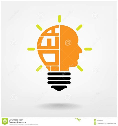Lightbulb idea vector lamps ideas