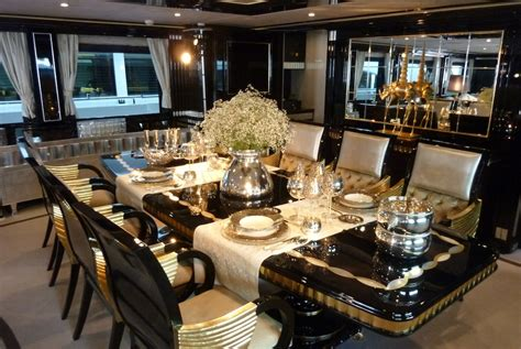 Luxurious Dining Tables Mondo Marine Yacht Again Luxurious Dining Table Photo Alessio Baleri Yacht