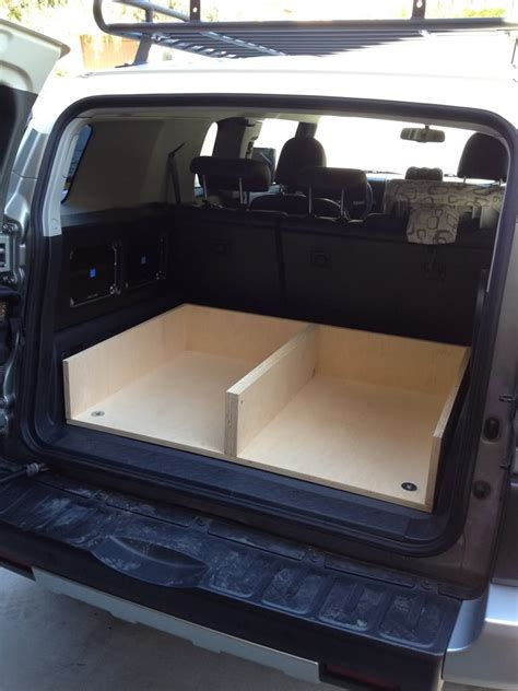 jeep bed in back rear cargo drawer build toyota fj cruiser forum