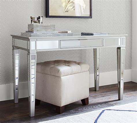 small mirrored desk park mirrored desk pottery barn