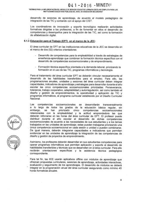 minedu programaciones jec cta 3 secundaria rsg n 176 041 2016 minedu nt jec