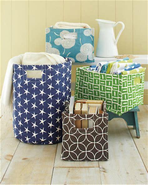 printed canvas storage bins modern baskets  garnet