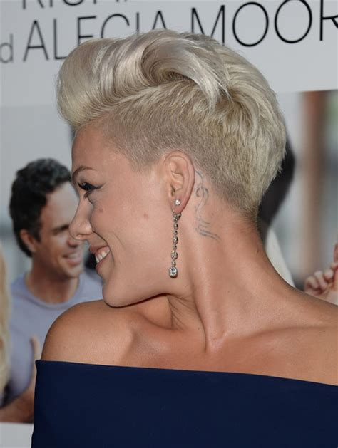 pinks current hairstyle more pics of pink fauxhawk 8 of 56 short hairstyles