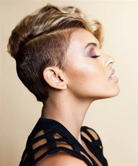 womens haircut with short sides shaved sides pixie haircuts for women shaved sides pixie