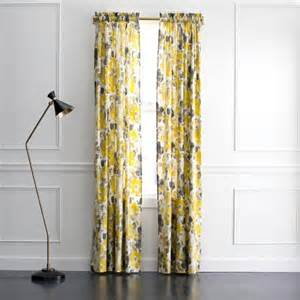 Yellow Grey Curtains Gray And Yellow Floral Curtains Products Bookmarks Design Inspiration And Ideas