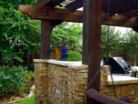 Outdoor Kitchen Arbor Outdoor Kitchen With Swing Hgtv