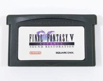 Final Fantasy 6 Vi Advance Restored Gba Cartridge Sound And Gameboy Label Template