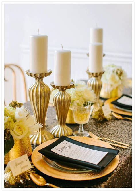 black and gold centerpieces for tables thelt co
