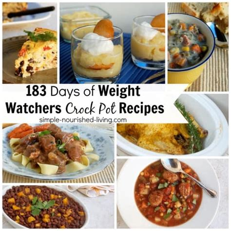 cooker cookbook the best weight watchers crock pot recipes with smart points for rapid weight loss books 183 days weight watchers crock pot recipes simple
