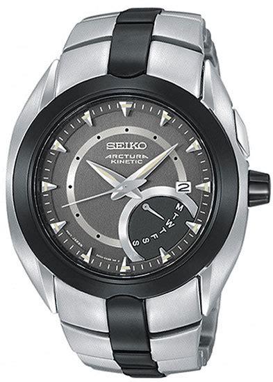 Jam Tangan Seiko Snl049p1 Arctura Kinetic Black Silver Whiite jam tangan rip courl