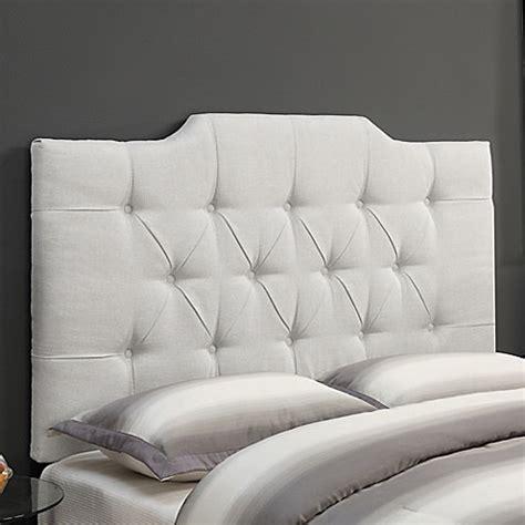 white tufted king headboard buy pulaski tufted linen king headboard in white from bed