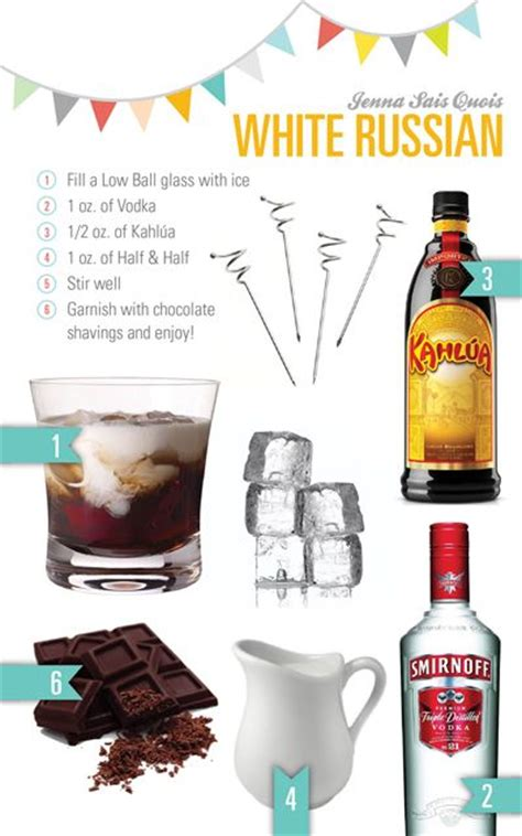 cocktail hour white russian beverages of all sorts pinterest