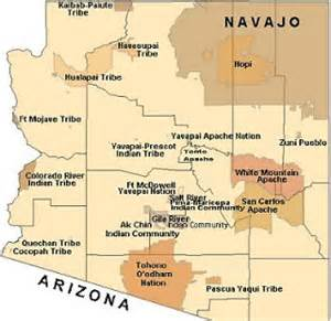 san carlos apache reservation mission trip map of indian