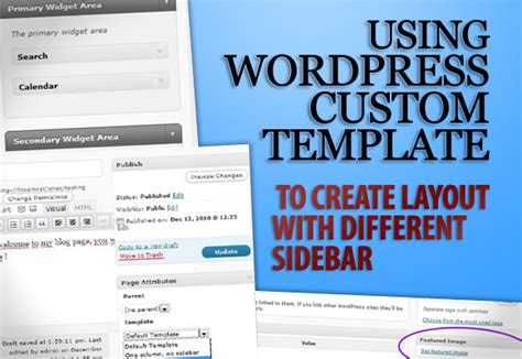 using wordpress custom template to create layout with