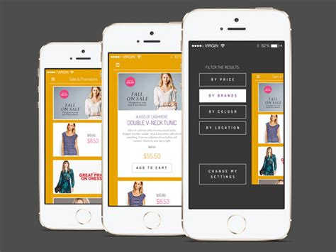 flat ios shopping app psd template freebies