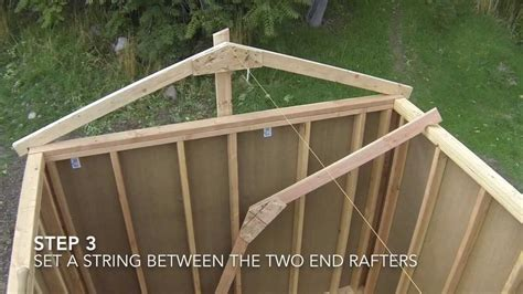 build  shed part  shed roof framing youtube