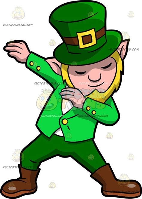 leprechaun clip dabbing leprechaun clipart by vector