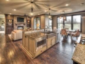 Open House Plans With Large Kitchens by Open Kitchen Floor Plans Open Floor Plan Photo