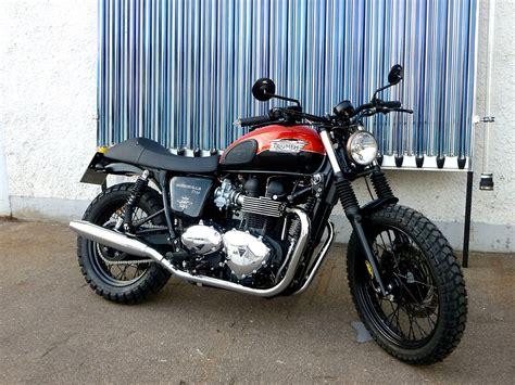 Motorrad Triumph Bonneville T100 by Umgebautes Motorrad Triumph Bonneville T100 Sbf