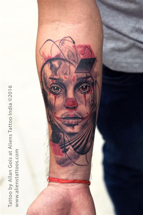 joker tattoo studio wolmirstedt joker girl tattoo by allan gois aliens tattoo