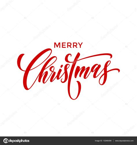 creative typography merry christmas vector text type calligraphy stock vector  ronedale