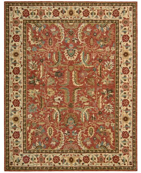 macys area rugs nourison area rug legacy pl04 terracotta 5 10 quot rugs macy s