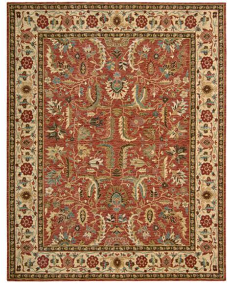 rugs macys nourison area rug legacy pl04 terracotta 5 10 quot rugs macy s