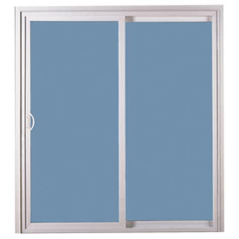 Reliabilt Sliding Patio Doors Shop Reliabilt 311 Series 58 75 In Clear Glass White Vinyl Sliding Patio Door At Lowes