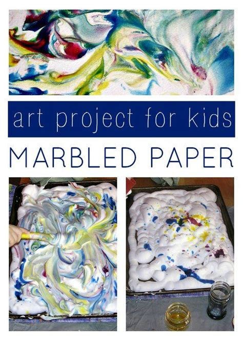 Marbled Paper Craft - marbled project for coloring for